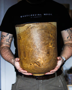 Hollowform oak vessel #2