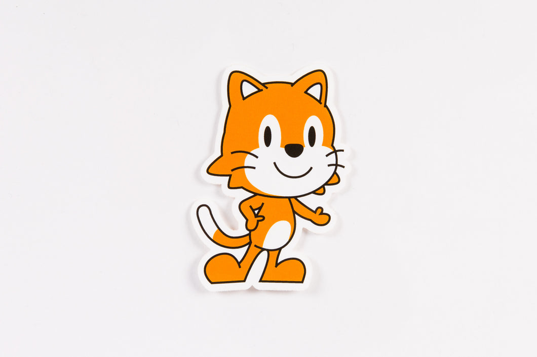 ScratchJr Cat Sticker (Pack of 20)