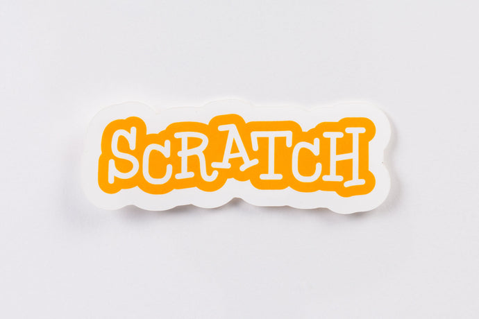 Scratch Logo Sticker (Pack of 20)