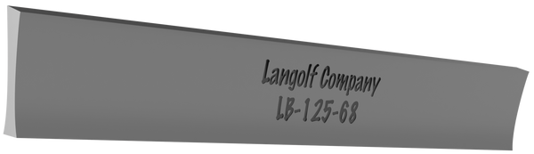 LB-187-68 5° Beveled (Johnson) Cutoff Blade