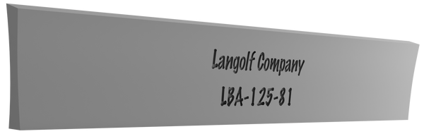 LBA-156-81 7° Beveled (Acme) Cutoff Blade