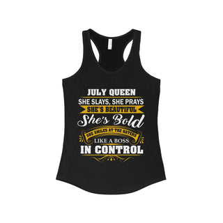 Teefavory July Queen  She Slays She Prays She's Beautiful She's Bold Shirt - Tank top for woman