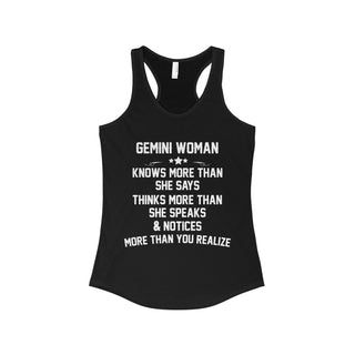 TeeFavory Gemini woman knows more than she says shirt - Xmas  tank top for Woman
