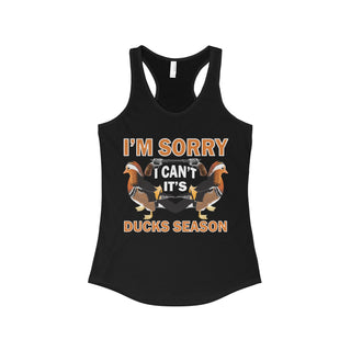 Teefavory I Can't It's Ducks Seaso, Hunting shirts - Tank top for woman