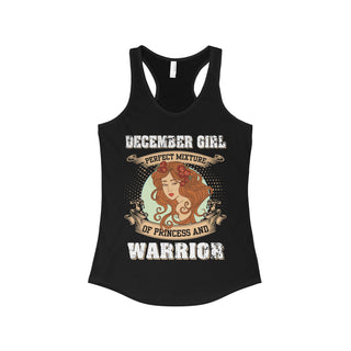 Teefavory December Girl Perfect Mixture Of Princess And Warrior Shirt - Tank top for woman