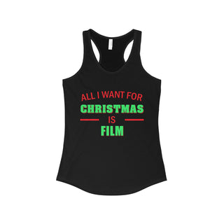 Teefavory Women's All i want for christmas is Film shirt - Xmas tank top