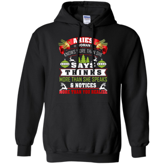 TeeFavory Aries Woman knows more than she says shirt  - Xmas  hoodie for woman