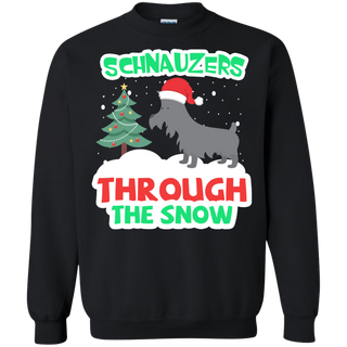 Teefavory Christmas Schnauzers Through The Snow shirt - Xmas  Sweatshirt - Xmas  Sweatshirt