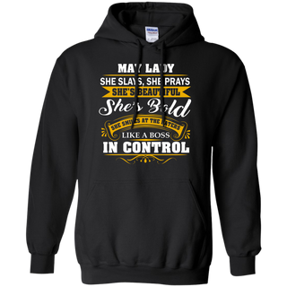Teefavory Women's Teefavory Women's May lady  She Slays She Prays She's Beautiful She's Bold Shirt - Hoodie for woman - Hoodie for woman