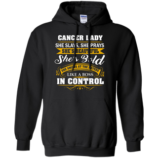 Teefavory Women's Teefavory Women's Cancer Lady She Slays She Prays She's Beautiful She's Bold Shirt - Hoodie for woman - Hoodie for woman