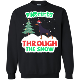 Teefavory Christmas Pinschers Through The Snow shirt - Xmas  Sweatshirt - Xmas  Sweatshirt