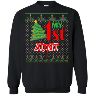 Teefavory Teefavory My First Aunt shirt -   Xmas Sweatshirt -   Xmas Sweatshirt