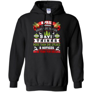 TeeFavory April Woman knows more than she says shirt  - Xmas  hoodie for woman