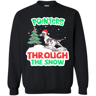 Teefavory Christmas Pointers Through The Snow shirt - Xmas  Sweatshirt - Xmas  Sweatshirt