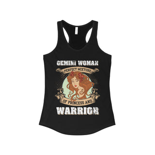 Teefavory Gemini Woman Perfect Mixture Of Princess And Warrior Shirt - Tank top for woman