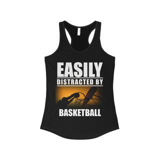 Teefavory Easily distracted by bassketball shirt - Tank top for woman