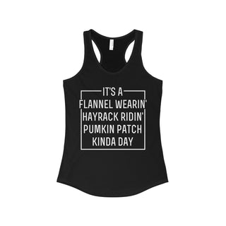 TeeFavory It's a Flannel Wearin' Hayrack Ridin' Pumpkin Patch Kinda Day shirt - Xmas  tank top for Woman