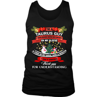 I'm a taurus guy i was born with my heart on my sleeve shirt