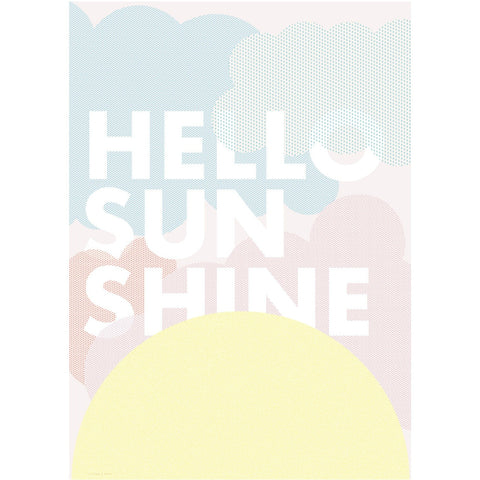 Hello sunshine poster van Friday & Today
