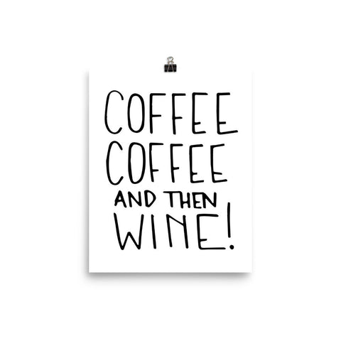 """Coffee & Wine"" Print"