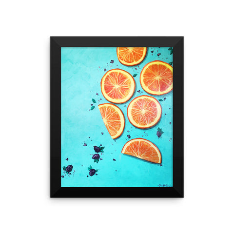 """Citrust Yourself"" Framed Print"