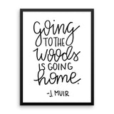 """To the Woods"" Framed Print"