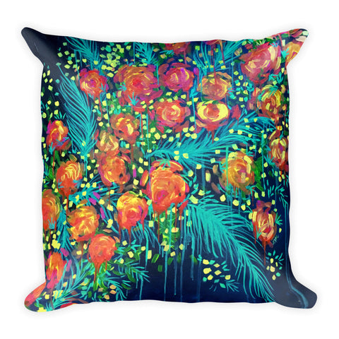 """Rose Goes"" Pillow"