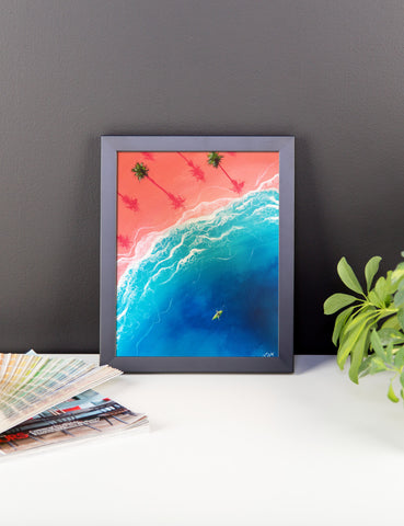 """Kayatching Waves"" Framed Print"