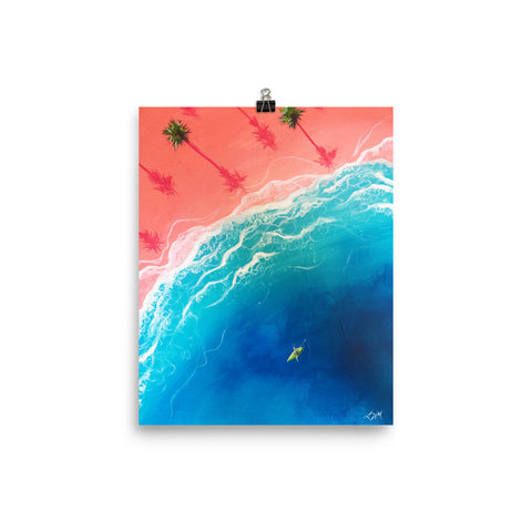 """Kayatching Waves"" Print"
