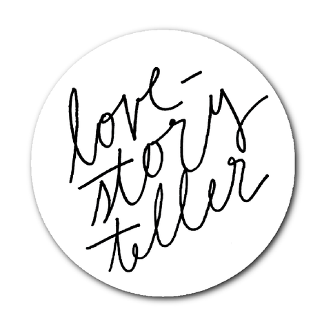 Wedding Photographer Sticker, Photographer Sticker, Love Storyteller