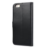 IPHONE 6 PLUS / IPHONE 6S PLUS MILAN BLACK ITALIAN LEATHER WALLET CASE