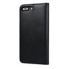 IPHONE 7 PLUS CAPRI BLACK ITALIAN LEATHER CASE, WITH STAND FUNCTION