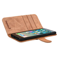 IPHONE 7 MILAN TAN ITALIAN LEATHER WALLET CASE