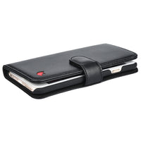 IPHONE 6 / 6S MILAN BLACK ITALIAN LEATHER WALLET CASE