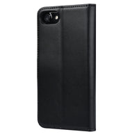 IPHONE 7 MILAN BLACK ITALIAN LEATHER WALLET CASE