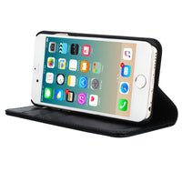 IPHONE 6 PLUS / IPHONE 6S PLUS CAPRI BLACK ITALIAN LEATHER CASE, WITH STAND FUNCTION