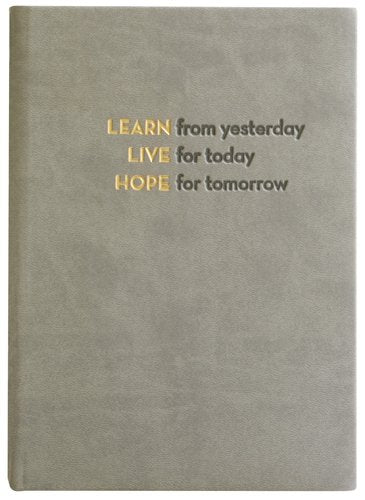 Embossed Learn, Live, Hope, Journal Diary, Hard Cover - MINDFUL ZEBRA