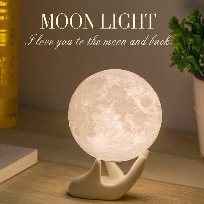 Mydethun Moon Lamp Moon Light Night Light for Kids | Gifts for Women - MINDFUL ZEBRA