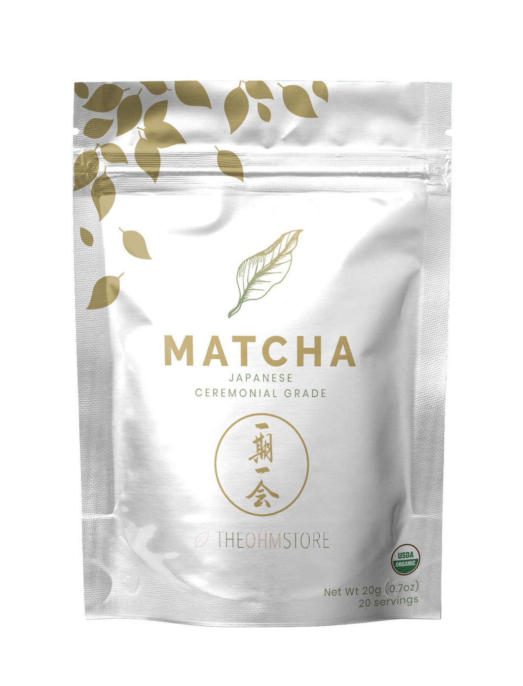 100% Organic Matcha Green Tea Powder ⁠- USDA Certified, Premium Ceremonial Grade, Vegan - MINDFUL ZEBRA