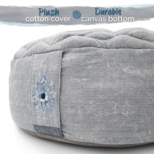 "Zenjara Zafu Yoga Meditation Cushion - 15"" x 5"" Cloud Grey 