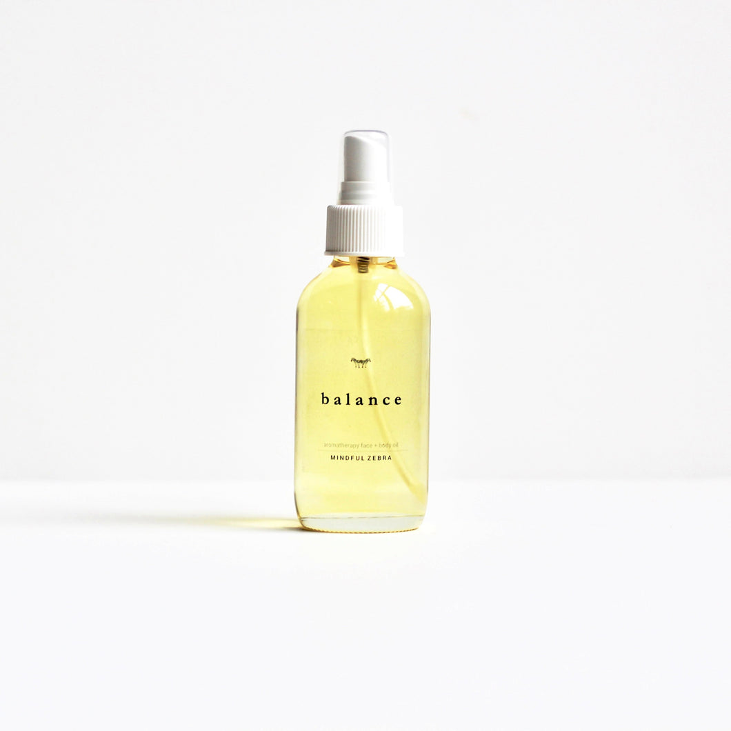 Balance Bath + Body Oil - MINDFUL ZEBRA