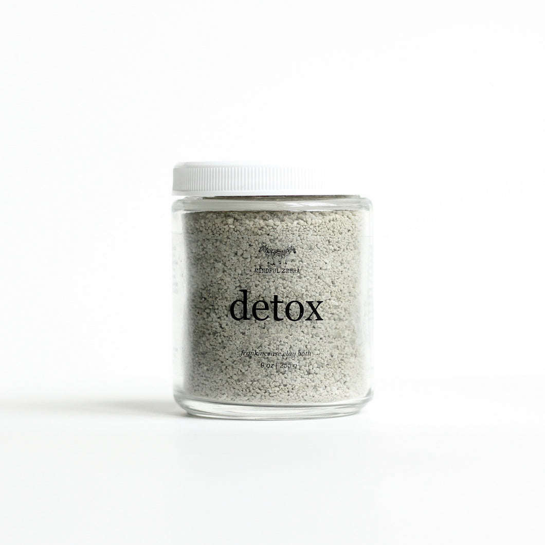 Detox Frankincense Clay Bath - MINDFUL ZEBRA