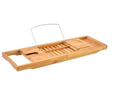 Bamboo Bathtub Book Holder - MINDFUL ZEBRA