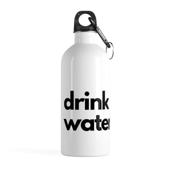 Zebra Drink Water Reminder Stainless Steel Water Bottle