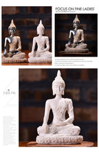 Nordic Style Buddha Statue Resin Sculpture - MINDFUL ZEBRA