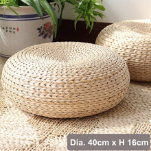 Handmade Weave Cushion Pillow made w/ Natural Straw Rattan - MINDFUL ZEBRA