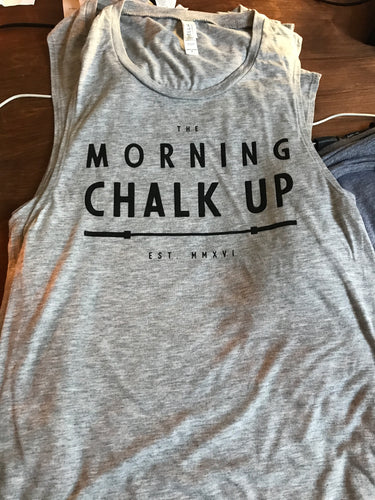 PRE-ORDER: Morning Chalk Up Basic Muscle Tank