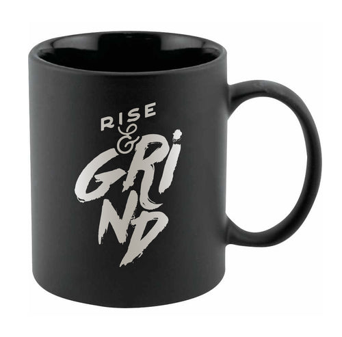 Rise & Grind Black Chalkboard 11oz Coffee Mug