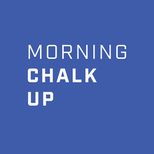 Square Morning Chalk Up Laptop Sticker Two-Pack