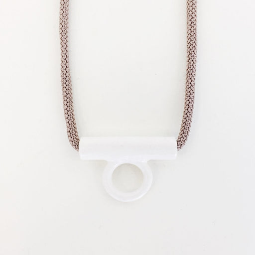 Hollow Tab Necklace